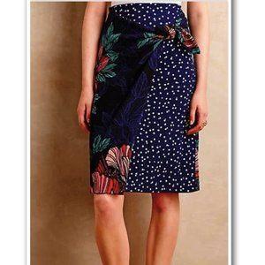 ANTHROPOLOGIE | Maeve Petal Pop Faux Wrap Skirt